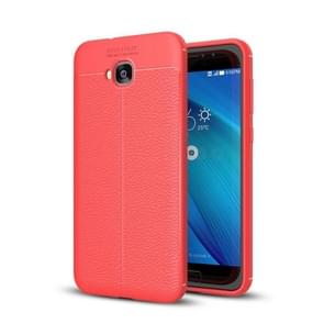 For Asus Zenfone 4 Selfie (ZD553KL) Litchi Texture Soft TPU Anti-skip Protective Cover Back Case(Red)
