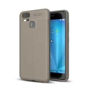 For Asus Zenfone 3 Zoom (ZE553KL) Litchi Texture Soft TPU Anti-skip Protective Cover Back Case(Grey)