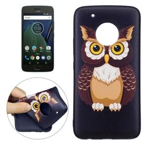 For Motorola Moto G5 Plus Owl Pattern Stereo Relief TPU Protective Back Cover