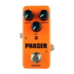 KOKKO FPH2 Mini Electric Guitar Analog  Phaser Monoblock Effects Pedal(Orange)