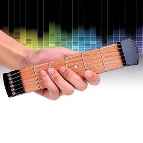 6 Fret draagbare Pocket Guitar Practice Tool Gadget voor Beginner Chord Fingering Practice Tool