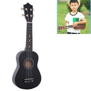 HM100 21 inch Basswood Ukulele Children Musical Enlightenment Instrument (Black)