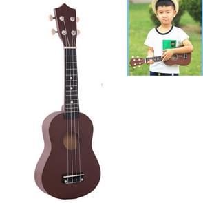 HM100 21 inch Basswood Ukulele Children Musical Enlightenment Instrument (Coffee)