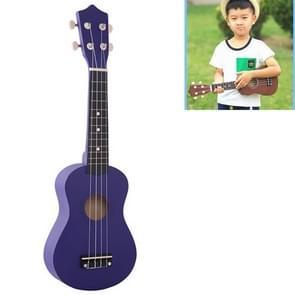 HM100 21 inch Basswood Ukulele Children Musical Enlightenment Instrument(Dark Purple)