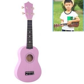 HM100 21 inch Basswood Ukulele Children Musical Enlightenment Instrument (Pink)