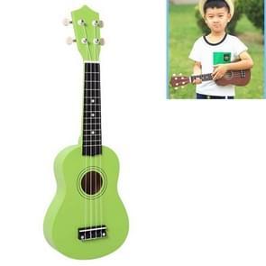 HM100 21 inch Basswood Ukulele Children Musical Enlightenment Instrument (Green)