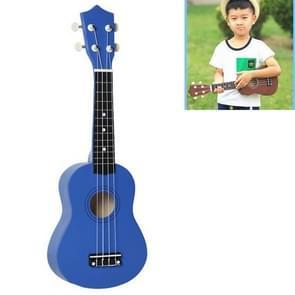 HM100 21 inch Basswood Ukulele Children Musical Enlightenment Instrument (Blue)