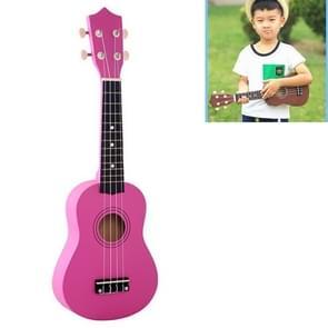 HM100 21 inch Basswood Ukulele Children Musical Enlightenment Instrument (Magenta)
