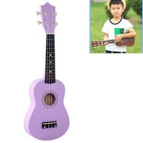 HM100 21 inch Basswood Ukulele Children Musical Enlightenment Instrument (Purple)