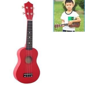 HM100 21 inch Basswood Ukulele Children Musical Enlightenment Instrument (Red)