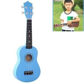HM100 21 inch Basswood Ukulele Children Musical Enlightenment Instrument (Baby Blue)