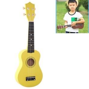HM100 21 inch Basswood Ukulele Children Musical Enlightenment Instrument (Yellow)