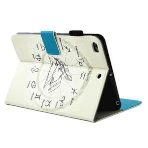 For iPad mini 4 / 3 / 2 / 1 Twelve Constellations Pattern Horizontal Flip Leather Case with Holder & Wallet & Card Slots & Sleep / Wake-up Function & Pen Slot