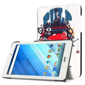 For Acer Iconia One 8 / B1-850 Everything Was Fine Pattern Horizontal Flip Leather Case with Three-folding Holder