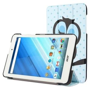 For Acer Iconia One 8 / B1-850 Owl Pattern Horizontal Flip Leather Case with Three-folding Holder