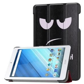 Voor Acer Iconia One 8 B1-860 Tablet Tri-Fold Eye patroon horizontaal Flip PU lederen beschermings hoesje met houder