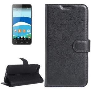 For Orange Dive 71 Litchi Texture Horizontal Flip Leather Case with Holder & Card Slots & Wallet(Black)