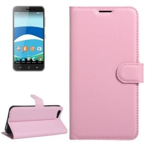 For Orange Dive 71 Litchi Texture Horizontal Flip Leather Case with Holder & Card Slots & Wallet(Pink)