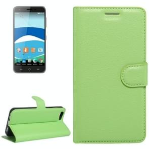 For Orange Dive 71 Litchi Texture Horizontal Flip Leather Case with Holder & Card Slots & Wallet(Green)