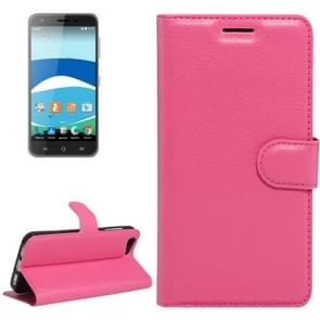 For Orange Dive 71 Litchi Texture Horizontal Flip Leather Case with Holder & Card Slots & Wallet(Magenta)