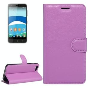 For Orange Dive 71 Litchi Texture Horizontal Flip Leather Case with Holder & Card Slots & Wallet(Purple)