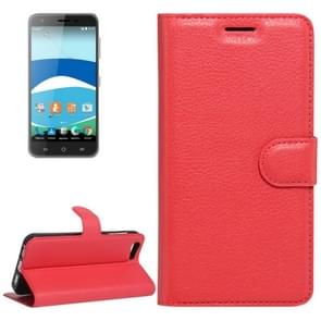 For Orange Dive 71 Litchi Texture Horizontal Flip Leather Case with Holder & Card Slots & Wallet(Red)