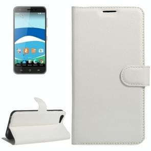 For Orange Dive 71 Litchi Texture Horizontal Flip Leather Case with Holder & Card Slots & Wallet(White)