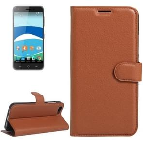 For Orange Dive 71 Litchi Texture Horizontal Flip Leather Case with Holder & Card Slots & Wallet(Brown)