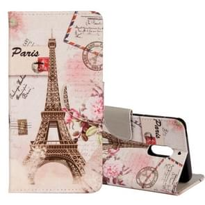 For Nokia 6 Eiffel Tower Pattern Horizontal Flip Leather Case with Holder & Card Slots & Wallet