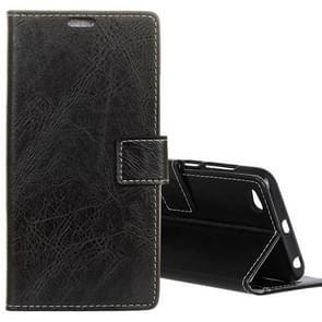 Xiaomi Redmi 5A Retro Crazy Horse Texture Horizontal Flip Leather Case with Card Slots & Holder & Wallet & Photo Frame (Black)