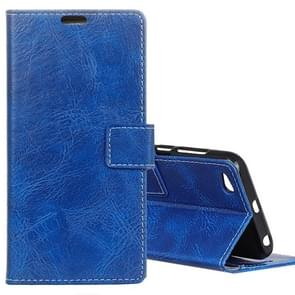Xiaomi Redmi 5A Retro Crazy Horse Texture Horizontal Flip Leather Case with Card Slots & Holder & Wallet & Photo Frame (Blue)