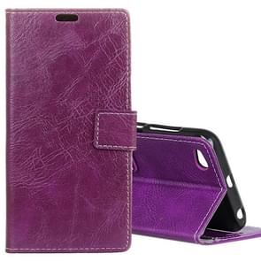Xiaomi Redmi 5A Retro Crazy Horse Texture Horizontal Flip Leather Case with Card Slots & Holder & Wallet & Photo Frame (Purple)