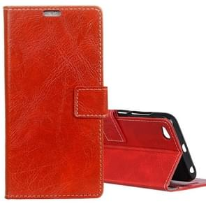 Xiaomi Redmi 5A Retro Crazy Horse Texture Horizontal Flip Leather Case with Card Slots & Holder & Wallet & Photo Frame (Red)