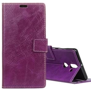 For Nokia 9 Retro Crazy Horse Texture Horizontal Flip Leather Case with Card Slots & Holder & Wallet & Photo Frame, Small Quantity Recommended before Nokia 9 Launching(Purple)