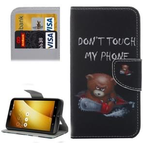 For Asus ZenFone 3 / ZE552KL Little Bear Pattern Leather Case with Holder & Card Slots & Wallet