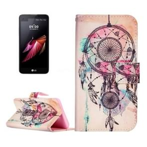 For LG X Screen Paiting Dream Catcher Pattern Leather Case with Holder & Card Slots & Wallet