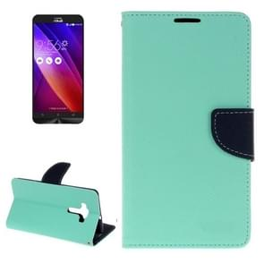 For ASUS ZE552KL Cross Texture Horizontal Flip Leather Case with Holder & Card Slots & Wallet(Green)