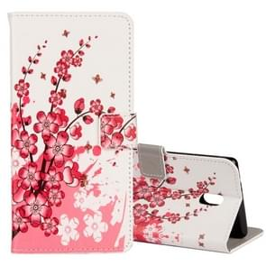 For Nokia N3 Plum Blossom Pattern Horizontal Flip Leather Case with Holder & Card Slots & Wallet