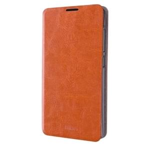 MOFI For Microsoft Lumia 650 Crazy Horse Texture Horizontal Flip Leather Case with Holder(Brown)