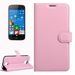 For Acer Liquid Jade Primo 5.5 inch & Liquid Jade 2 Litchi Texture Horizontal Flip Leather Case with Magnetic Buckle & Holder & Card Slots & Wallet(Pink)
