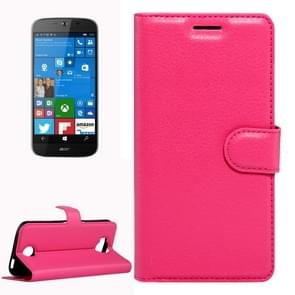 For Acer Liquid Jade Primo 5.5 inch & Liquid Jade 2 Litchi Texture Horizontal Flip Leather Case with Magnetic Buckle & Holder & Card Slots & Wallet(Magenta)