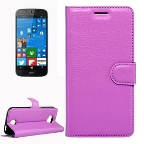 For Acer Liquid Jade Primo 5.5 inch & Liquid Jade 2 Litchi Texture Horizontal Flip Leather Case with Magnetic Buckle & Holder & Card Slots & Wallet(Purple)