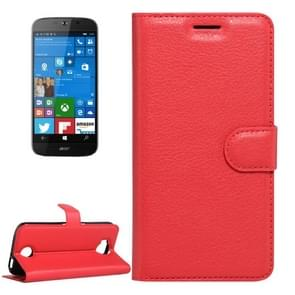 For Acer Liquid Jade Primo 5.5 inch & Liquid Jade 2 Litchi Texture Horizontal Flip Leather Case with Magnetic Buckle & Holder & Card Slots & Wallet(Red)