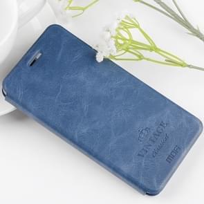 MOFI Xiaomi Mi Note 3 Crazy Horse Texture Horizontal Flip Leather Case with Holder & Card Slot(Blue)