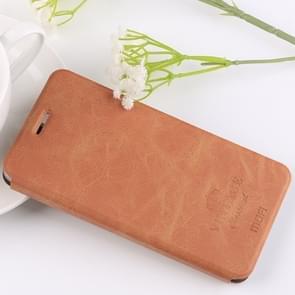 MOFI Xiaomi Mi Note 3 Crazy Horse Texture Horizontal Flip Leather Case with Holder & Card Slot(Brown)