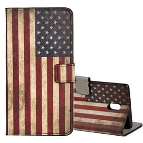 For Nokia N6 US Flag Pattern Horizontal Flip Leather Case with Holder & Card Slots & Wallet