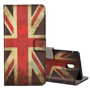 For Nokia N6 UK Flag Pattern Horizontal Flip Leather Case with Holder & Card Slots & Wallet