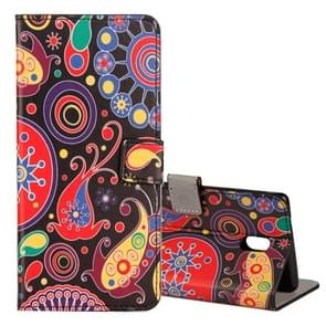 For Nokia N6 Acaleph Pattern Horizontal Flip Leather Case with Holder & Card Slots & Wallet