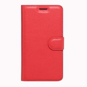 Huawei Honor 8 Litchi Texture Horizontal Flip Leather Case with Magnetic Buckle & Holder & Card Slots & Wallet(Red)
