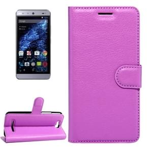For BLU Energy X Litchi Texture Horizontal Flip Leather Case with Magnetic Buckle & Holder & Card Slots & Wallet(Purple)
